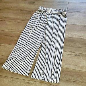 Seaside sailor striped wide leg pants S
